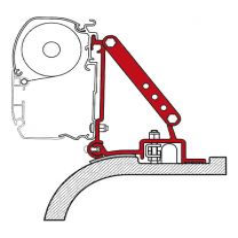 Luifeladapter set Fiamma F45/F70 voor Ducato/Jumper/Boxer H2