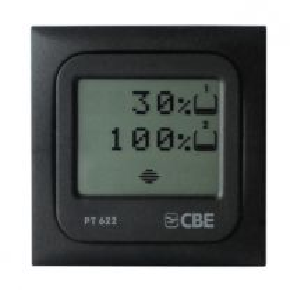 Waterpeil monitor CBE PT 622 grijs voor 2 watertanks 12V